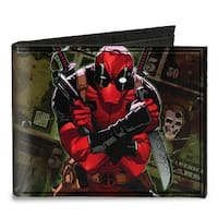 Deadpool 2012 #5 Revenge Of The Gipper Variant Cover Pose Dollar Bills Canvas Bi-Fold Wallet One Size - One Size Fits most