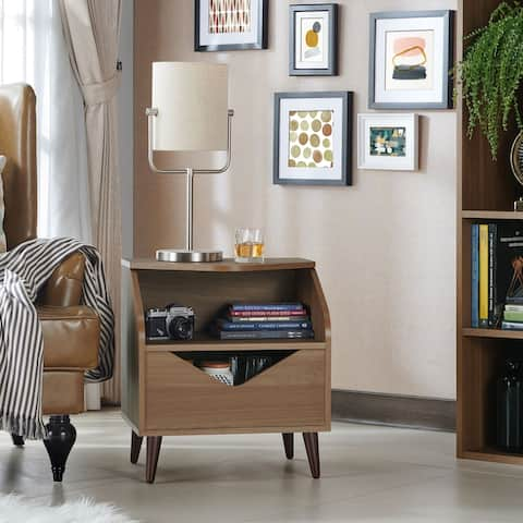 Nevin Mid-century One Drawer End Table