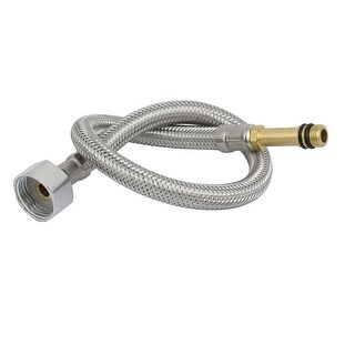 "F1/2"" G1/2"" 304 Stainless Steel Faucet Connector Water Supply Hose 11mmx40cm"
