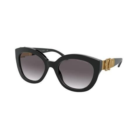 Ralph Lauren RL8185 50018G 54 Shiny Black Woman Butterfly Sunglasses