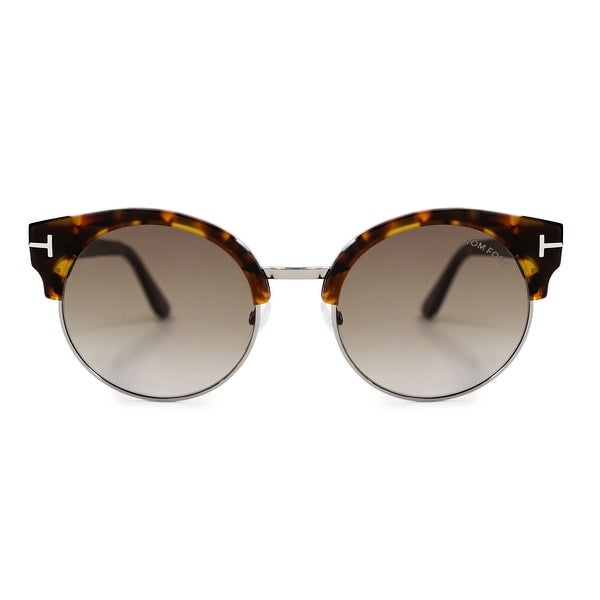 Tom Ford Alissa-02 Vintage Havana Round Sunglasses FT0608 55Z - 54mm x 21mm x 140mm. Opens flyout.