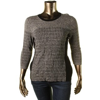 Nic + Zoe Womens Allegro Colorblocked Long Sleeve Pullover Sweater
