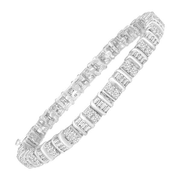3 ct Diamond Tennis Bracelet in 14K White Gold