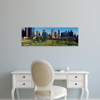 Easy Art Prints Panoramic Images's 'View of the city skyline from the Metro Golf Illinois Center, IL' Canvas Art