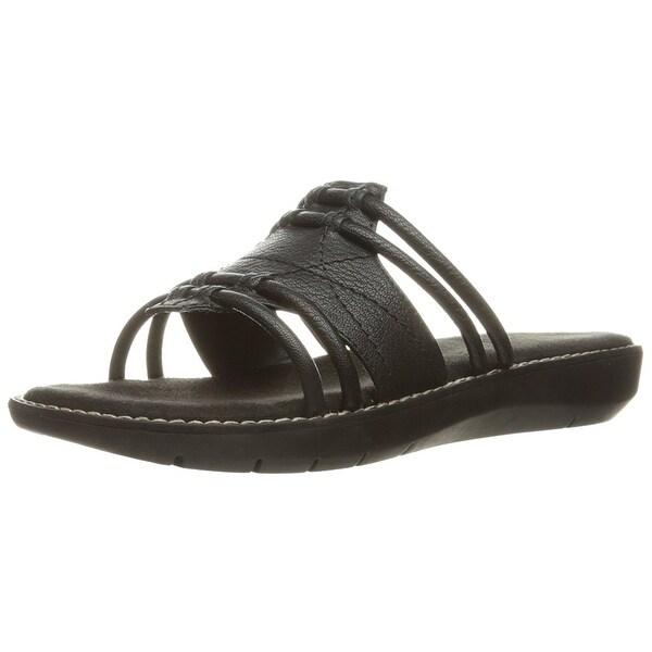 Aerosoles Womens Super Cool Open Toe Casual Slide Sandals