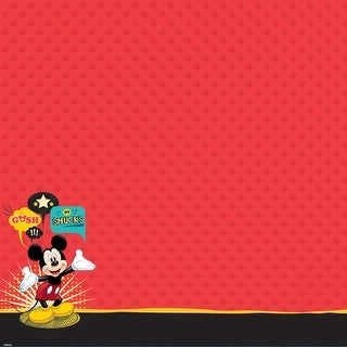 "Disney Glittered Thermography Paper 12""X12""-Mickey Family - Mickey Mouse"