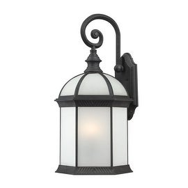 Nuvo Lighting 60/4983 Boxwood ES Single-Light Wall Lantern with Frosted Glass Panels