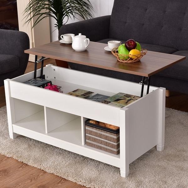 Shop Costway Lift Top Coffee Table W/ Hidden Compartment