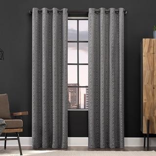 Link to Scott Living Gresham Geometric Total Blackout Grommet Curtain Panel Similar Items in Blackout Curtains