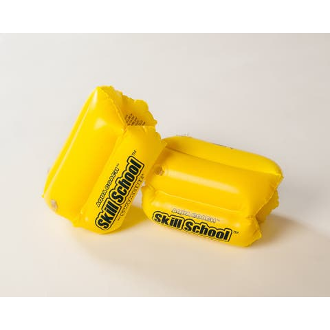 "2 Bright Yellow Skill School Children's Swimming Pool Floats 8.5"""