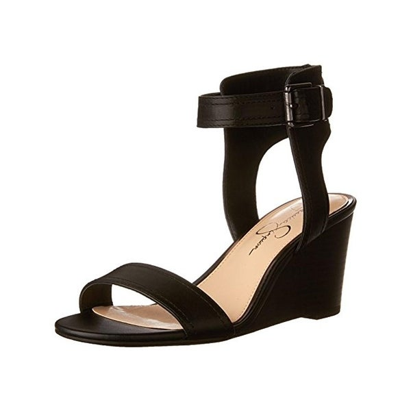 Jessica Simpson Womens Cristabel Wedge Sandals Open Toe Ankle Cuff