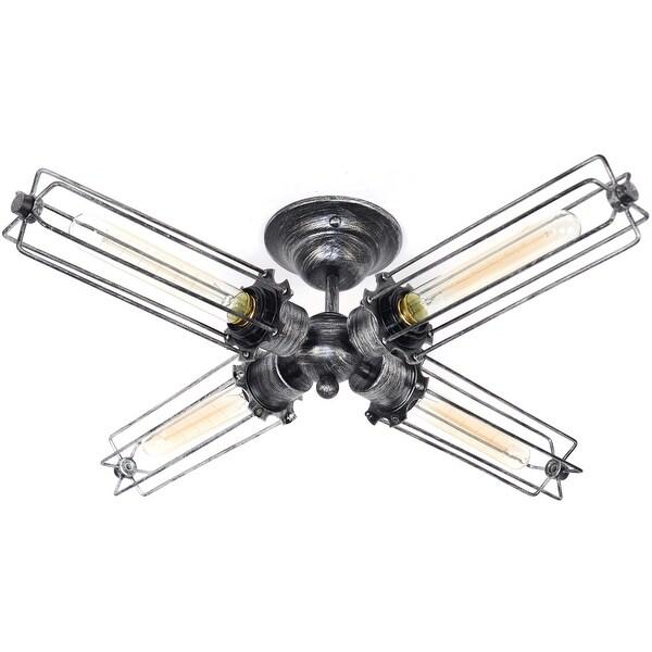 4 light vintage industrial edison ceiling lamp light