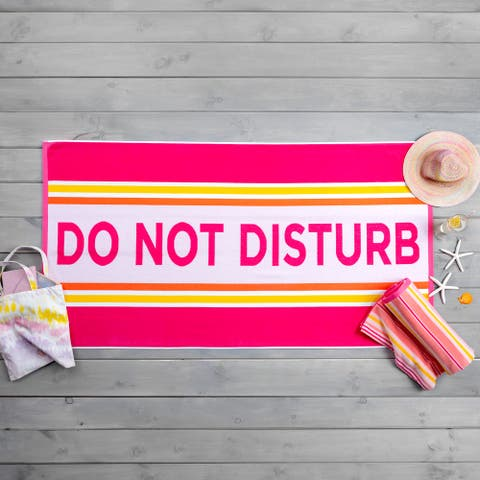 Martha Stewart Stripe and Do Not Disturb Beach Towel Set