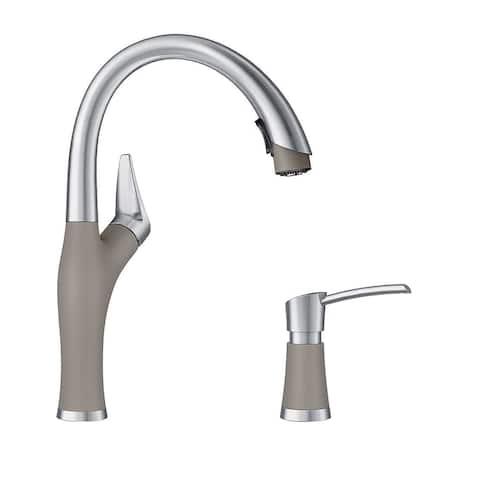 "Blanco KF-442027 Artona Pull-Down Kitchen Faucet with Soap Dispenser - 2"" x 8.63"" x 15.75"""