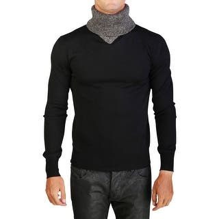 Dior Homme Virgin Wool Turtleneck Sweater Black Grey|https://ak1.ostkcdn.com/images/products/is/images/direct/8c83c21d0c4f992b7ac9229806844c25202778e8/Dior-Homme-Virgin-Wool-Turtleneck-Sweater-Black-Grey.jpg?impolicy=medium