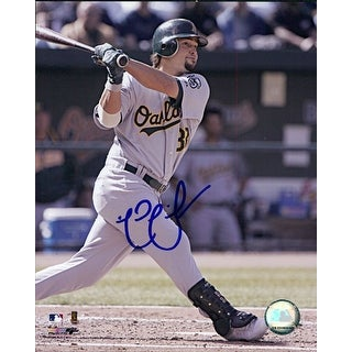 Signed Swisher Nick Oakland Athletics 8x10 Photo autographed