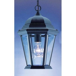 """Volume Lighting V8222 1 Light Outdoor 14.5"""" Height Pendant with Clear Beveled Glass Lantern Shade"""