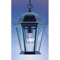 "Volume Lighting V8222 1 Light Outdoor 14.5"" Height Pendant with Clear Beveled Gl"
