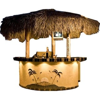 Tahiti 2 Piece 8' Island With 8' Bar Outdoor BBQ Kitchen