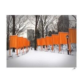 ''The Gates by Christo, Central Park'' by Igor Maloratsky Igor Maloratsky Photos Art Print (13 x 19 in.)