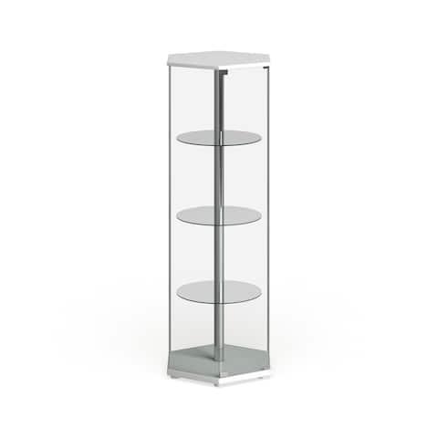 "Strick & Bolton Laure Hexagonal Curio Cabinet - 24"" x 24"" x 63.50"""