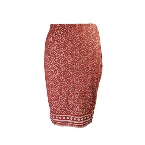 Studio M Copper Burnout Double Knit Pencil Skirt XS