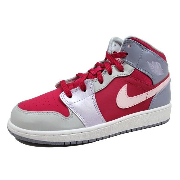 a64f2eaf70a30 Shop Nike Grade-School Air Jordan I 1 Mid Hyper Fuchsia Arctic Pink ...