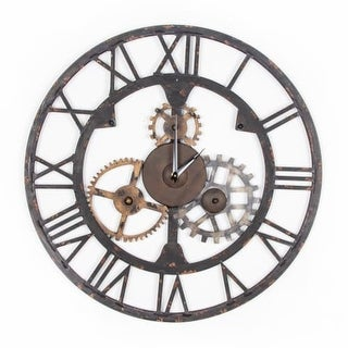 "Graham and Brown 41-723 23 Inch Diameter ""Cogsworth"" Steel Wall Clock"