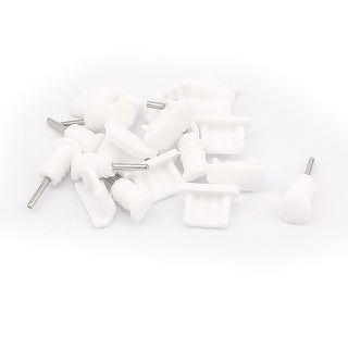 Anti Dust Headset Charger Plug Ear Cap Stopper Protector 3.5mm White 10 Sets