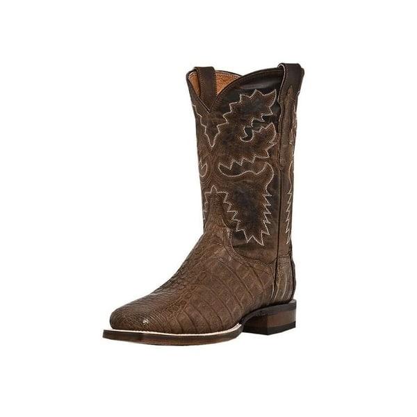 11d9a7ae826 Dan Post Western Boots Mens Cowboy Denver Caiman Bay Apache