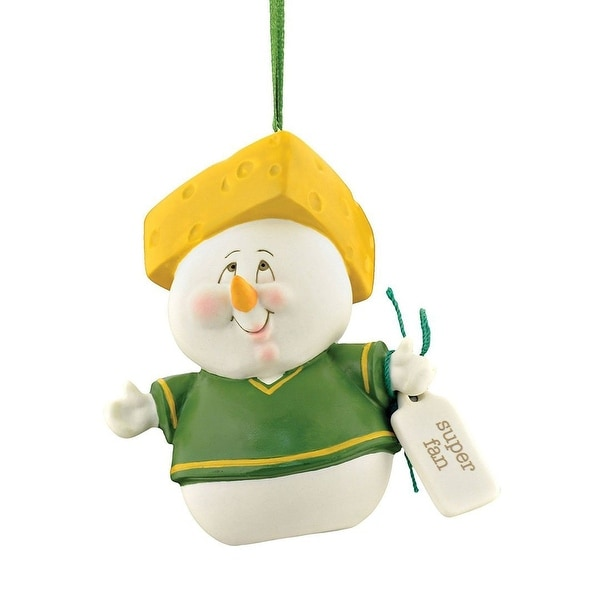 Green Bay Packers Snowpinions Super Fan Ornament