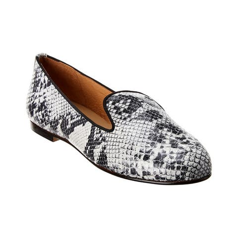 French Sole Tokyo Snake-Embossed Leather Loafer