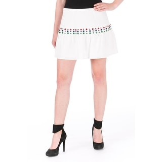 Cynthia Rowley Womens Crepe Cabachon Flounce Skirt