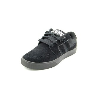 Osiris Lumin Youth Round Toe Suede Black Skate Shoe