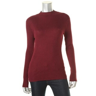 Hooked Up by IOT Womens Juniors Ribbed Knit Long Sleeves Pullover Sweater