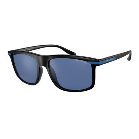 Armani Exchange AX4110S 807880 58 Matte Black Man Pillow Sunglasses