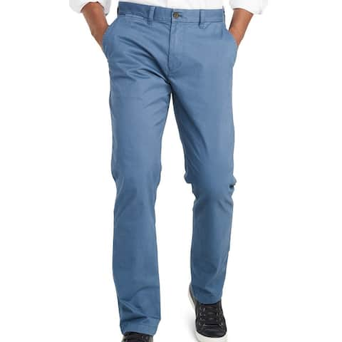 Tommy Hilfiger Mens Chino Pants Bayhead Dusty Blue Size 38x32 Custom Fit