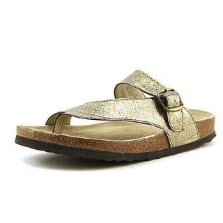 White Mountain Carly Open Toe Leather Thong Sandal