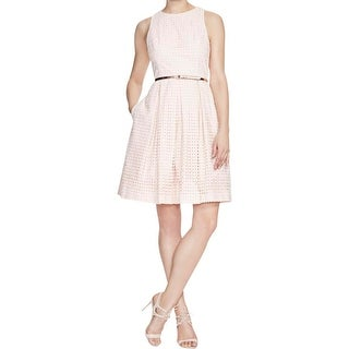 Eliza J Womens Casual Dress Lace Pleated