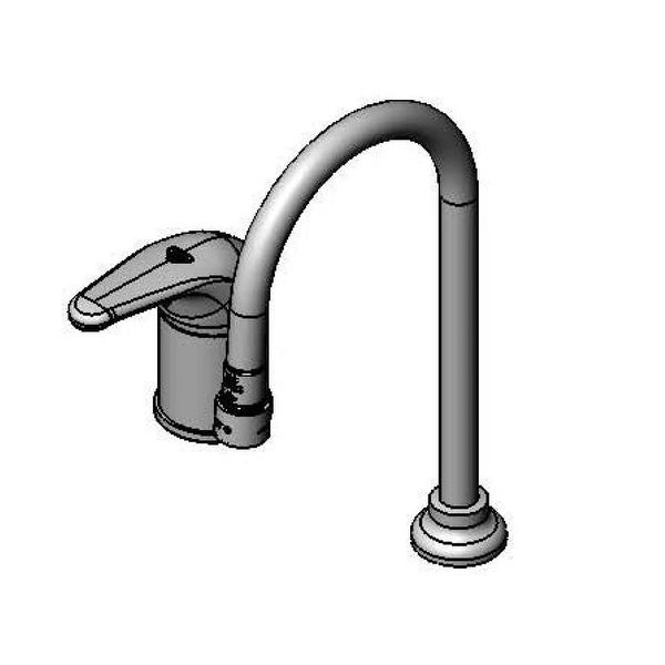 T and S Brass B-2741 2.2 GPM Deck Mounted Kitchen Faucet - Chrome