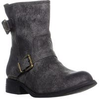 MIA Misty Mid Calf Buckle Boots, Black
