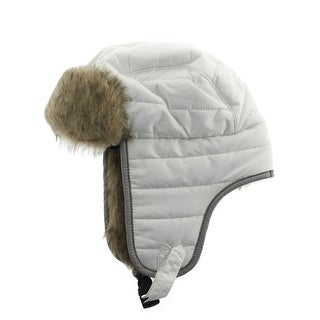 Manzella Womens Bubble Quilted Faux Fur Winter Hat - S/M