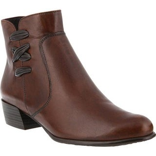 Spring Step Women's Terenie Bootie Medium Brown Leather