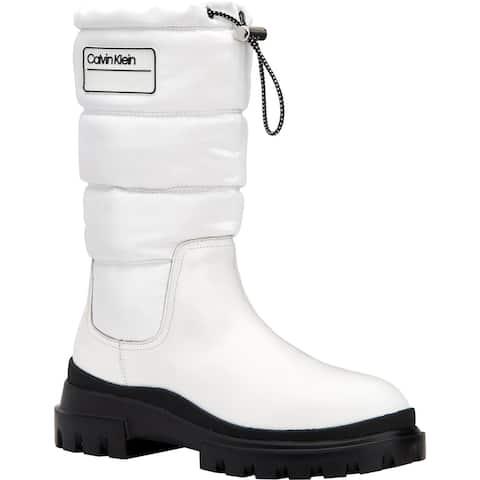 Calvin Klein Womens Laeton Winter Boots Mid-Calf Puffy