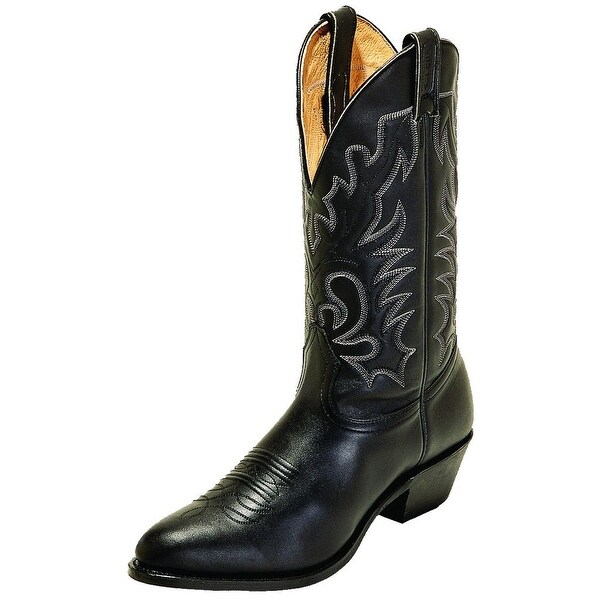 Boulet Western Boots Mens Challenger Cowboy Leather Sporty Black 00