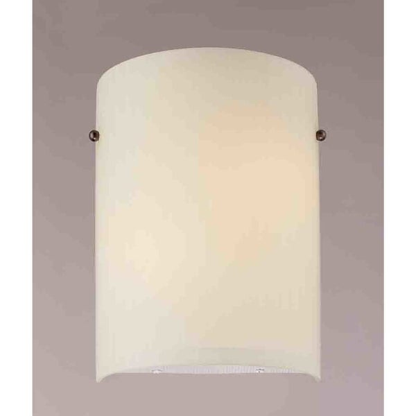 "Volume Lighting V6065 8"" Width Wall Washer Sconce with 2 Lights and White Glass"