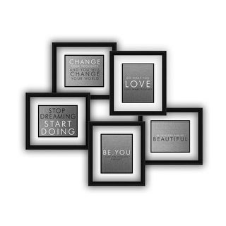 "PTM Images 80568 5 Opening 29"" X 31"" Collage Frame - Black"