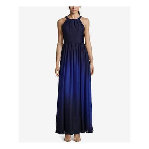BETSY & ADAM Blue Sleeveless Full-Length Empire Waist Dress Size 6