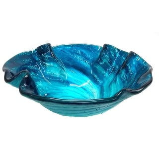 Eden Bath Caribbean Wave Glass Vessel Sink