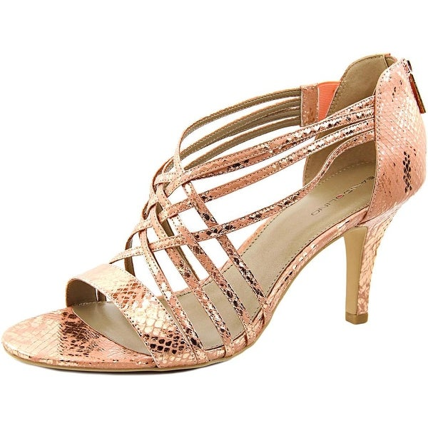 Bandolino Mellona Women Open Toe Synthetic Pink Sandals